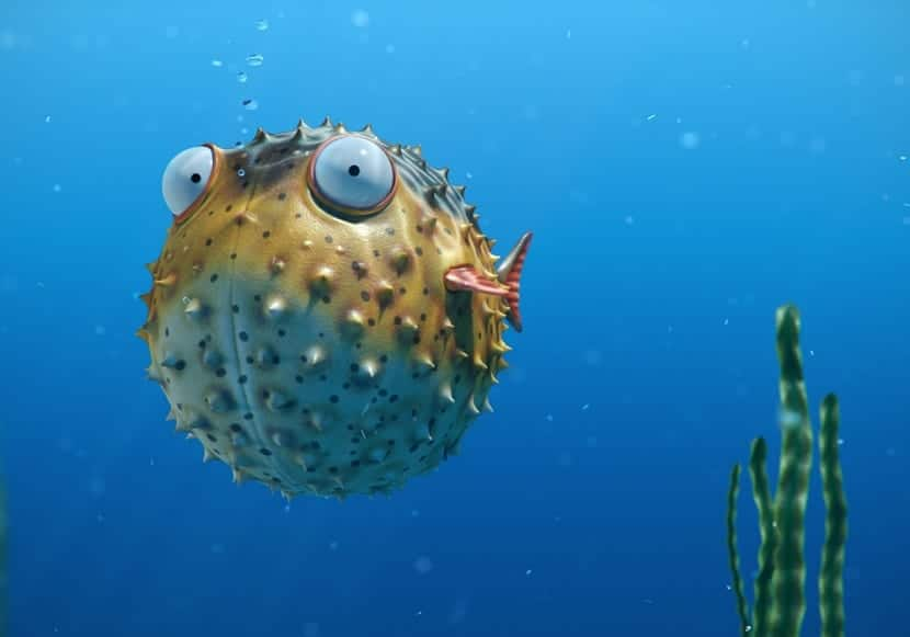 animación en el cine del pez globo