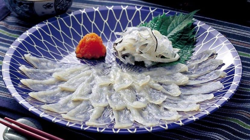 pez globo manjar