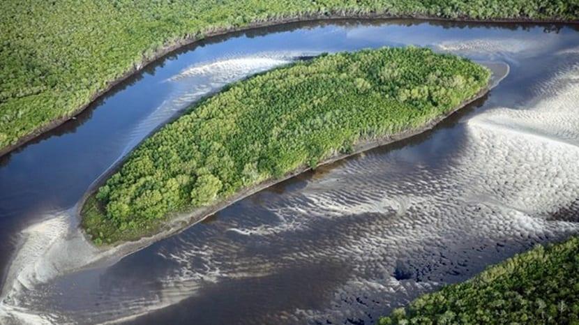 Aguas rápidas del río Congo