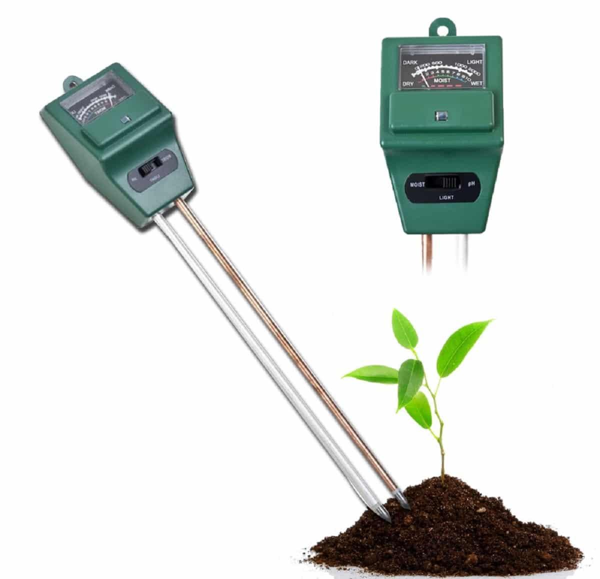 Midiendo el pH del suelo