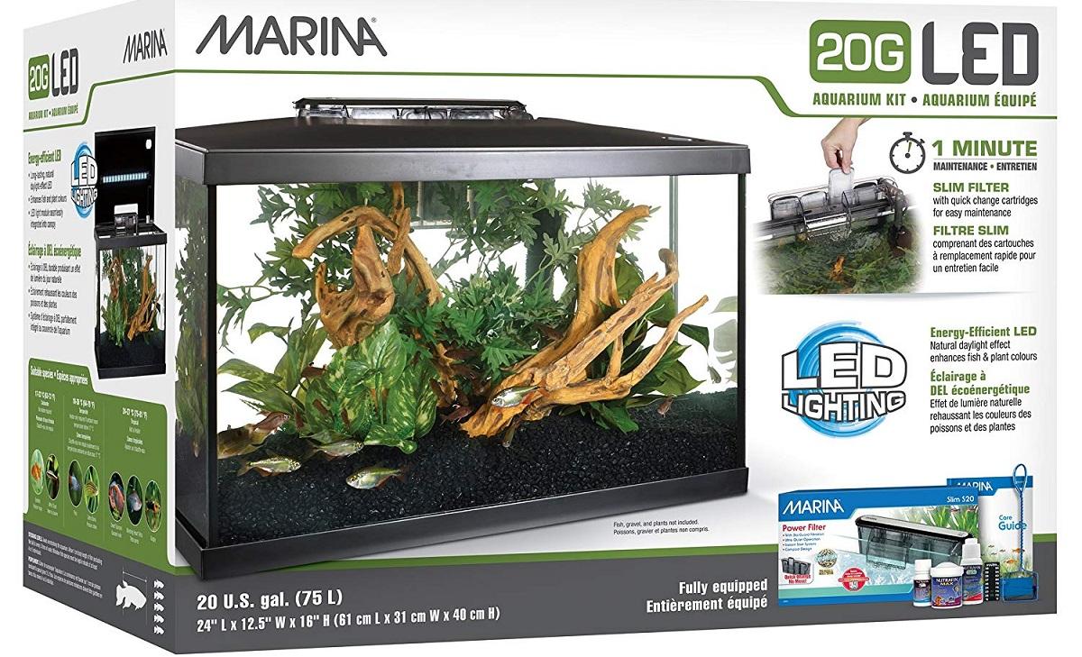 Marina Kit de Acuario con Iluminación LED