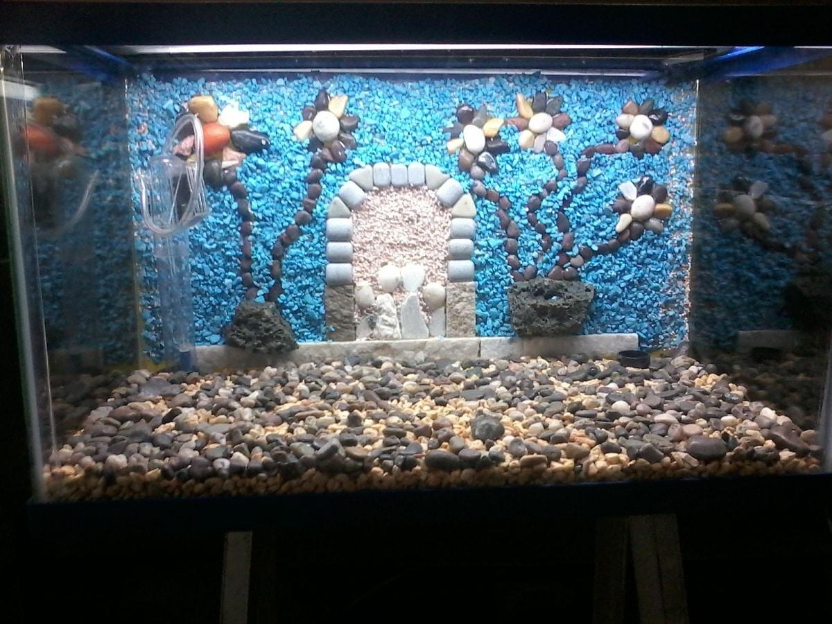 decoracion con piedras para acuarios